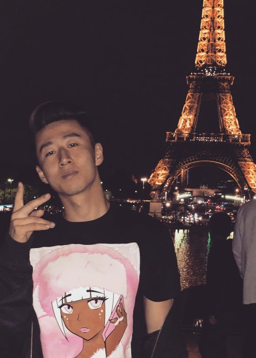 Jimmy Zhang posing for the camera in Paris, France in September 2019