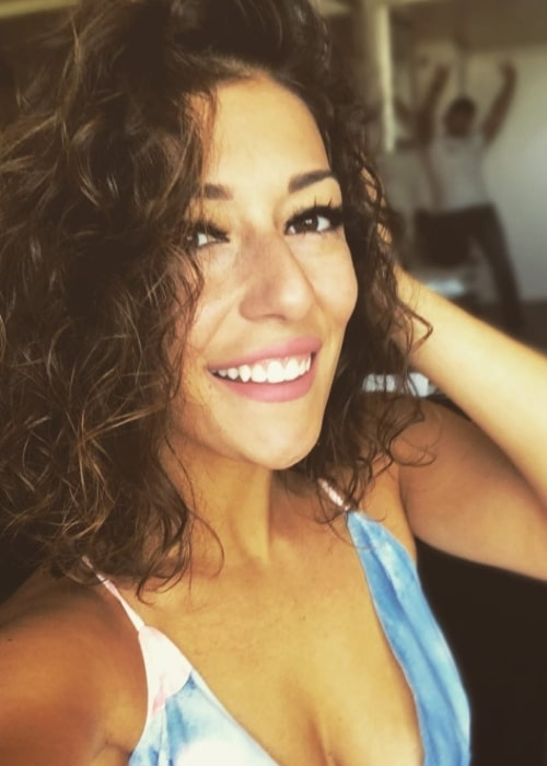 Josette Pimenta as seen while taking a selfie in May 2018