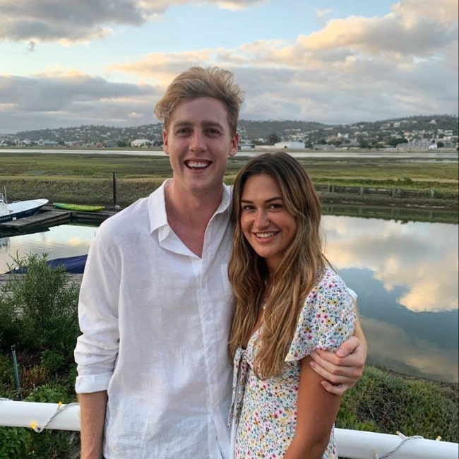 Josh Pieters smiling in a picture alongside Eleanor Butler in Knysna, Western Cape in January 2020