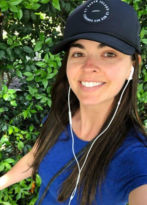 Katie Lee in a selfie in April 2019