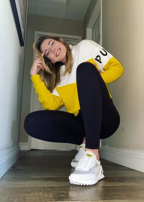 Katie Lou Samuelson as seen in a picture taken in April 2020