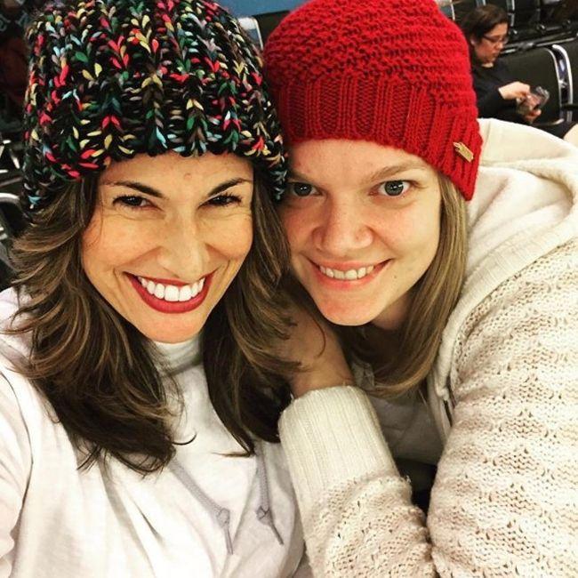 Katja as seen with her wife Julie McGuire in December 2016