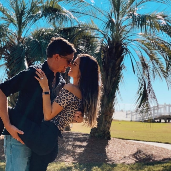 Keilah Kang in a loved-up picture along with Ben K in January 2020