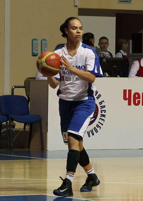 Kristi Toliver as seen in a picture taken during a game in Moscow in 2013