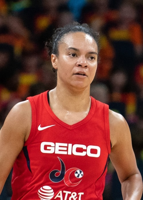 Kristi Toliver as seen in a picture taken during a match between Minnesota Lynx vs Washington Mystics on July 24 2019 at Target Center in Minneapolis