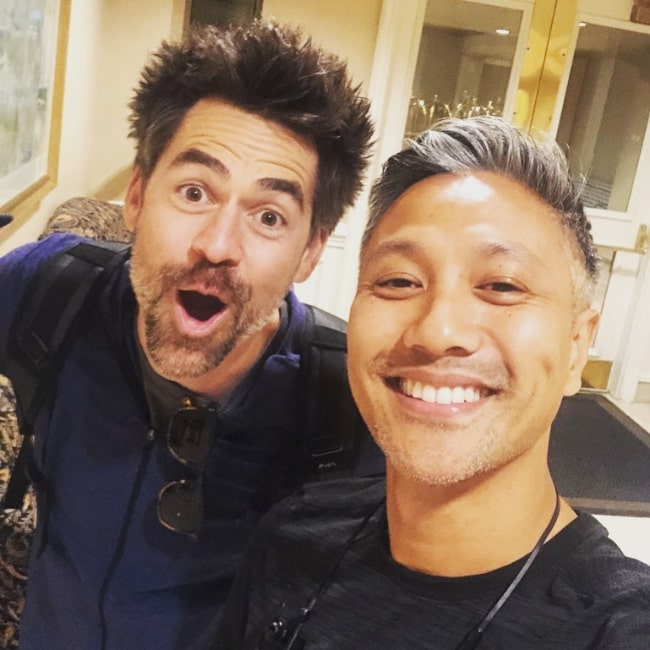 Kyle Howard (Left) as seen in a selfie along with Alain Uy in Vancouver, British Columbia, Canada in September 2019
