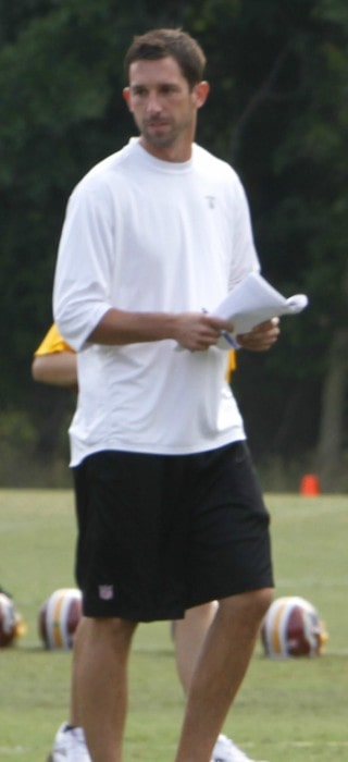 Kyle Shanahan at Washington Redskins Training Camp in August 2011