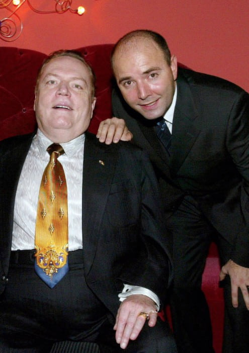Larry Flynt (Left) and Pierre Woodman