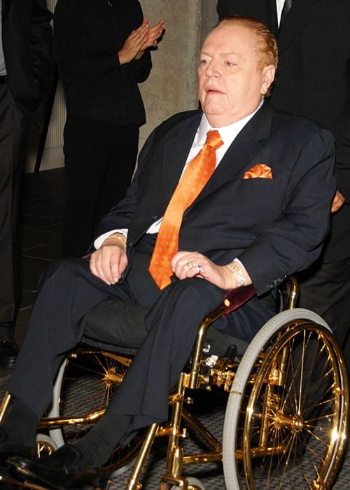 Larry Flynt during an event in November 2009