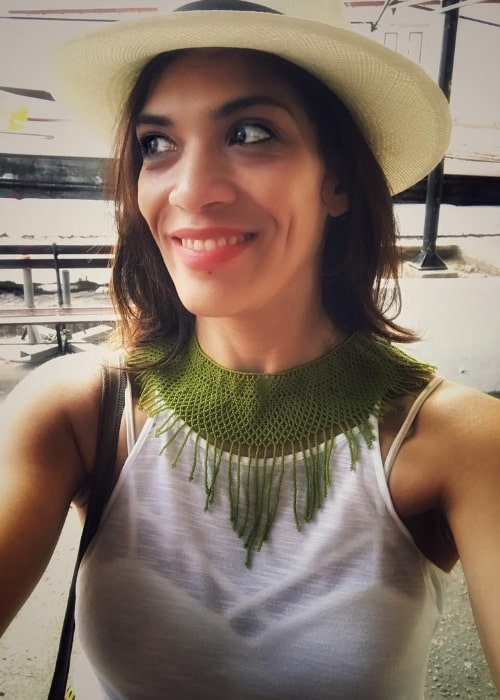 Laura Gómez as seen while taking a selfie in September 2018