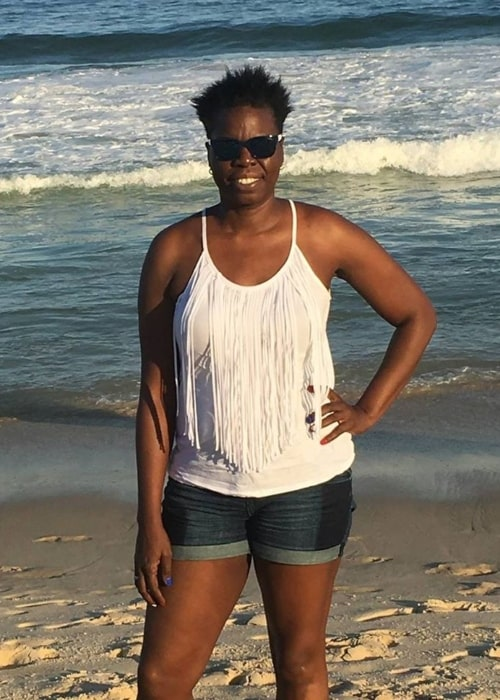 Leslie Jones as seen in a picture taken on the beach in November 2016