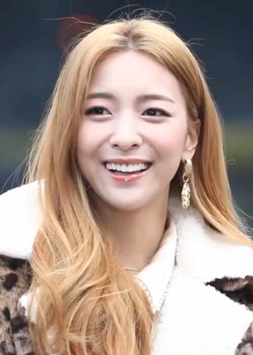 Luna as seen while going to a Music Bank recording on January 10, 2019