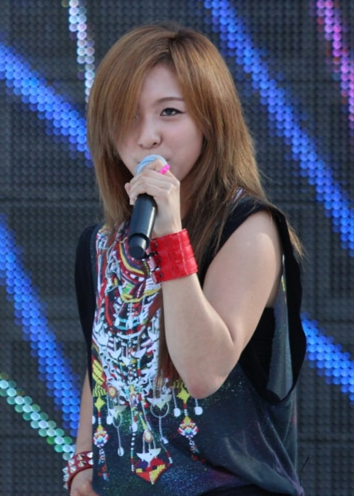 Luna as seen while performing at the M Super Concert on July 28, 2012
