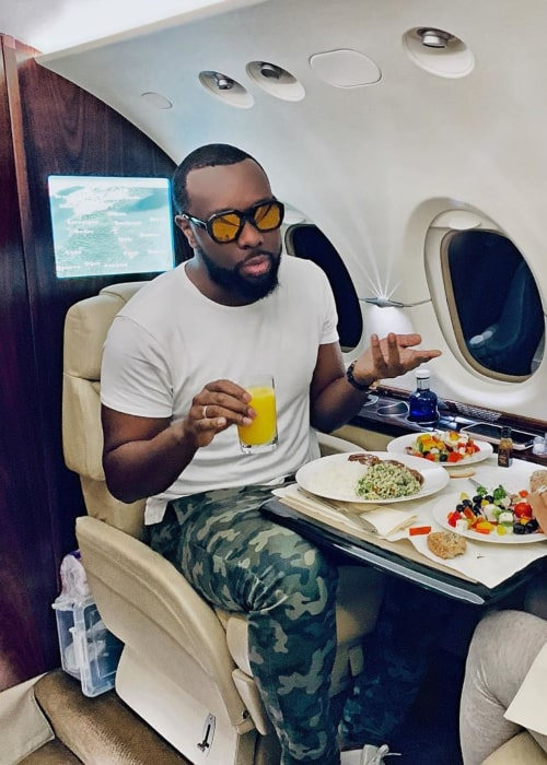 Maître Gims as seen in an Instagram Post in November 2019