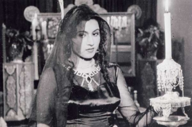 Madhubala in a still from her film Mahaal in 1949