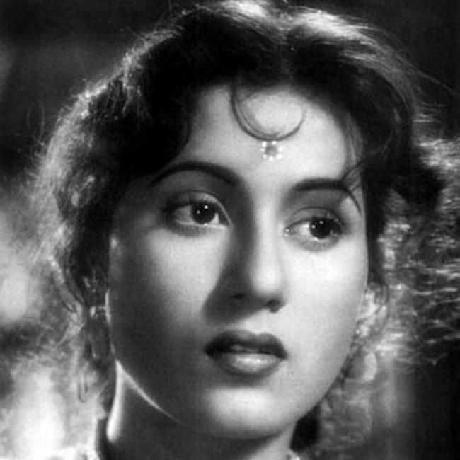 Madhubala in a still from the film Dulari in 1949