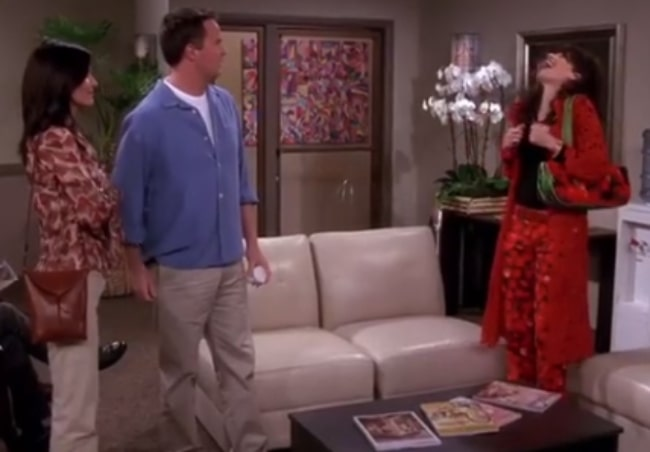 Maggie Wheeler in a still from the sitcom Friends in the past