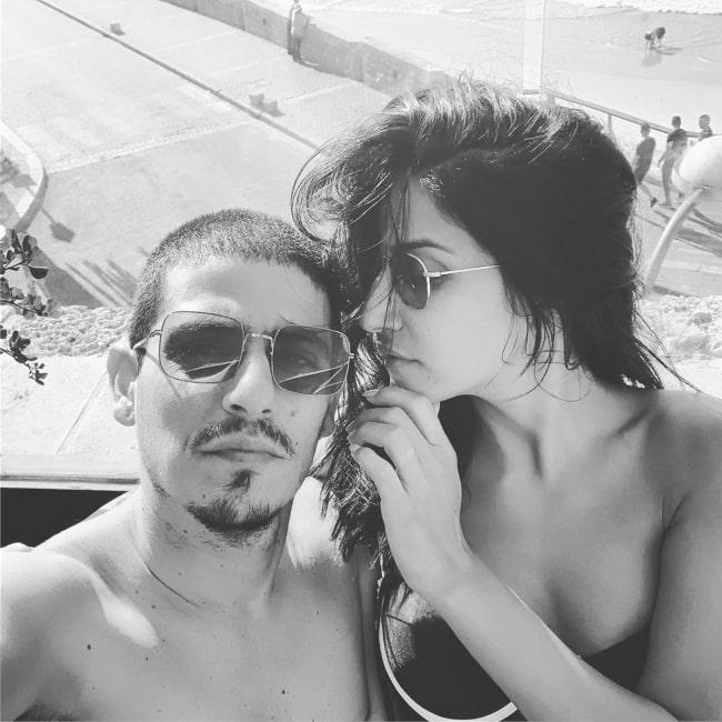 Magi Azarzar and her husband Kuti Sabag as seen in a selfie taken in September 2019
