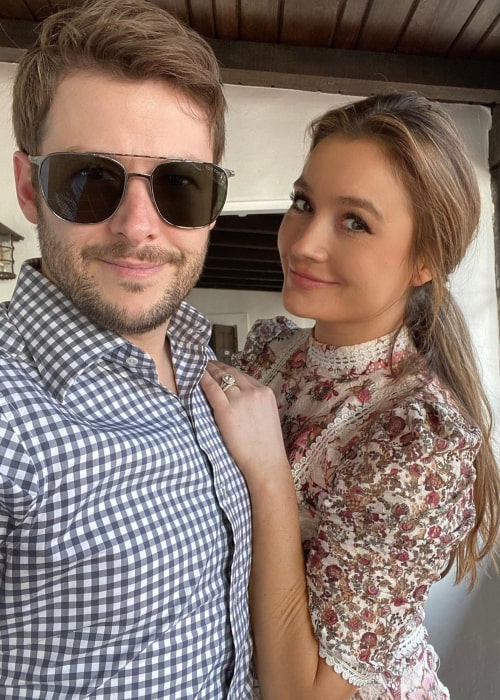 Marco Andretti and Marta Krupa, as seen in February 2020