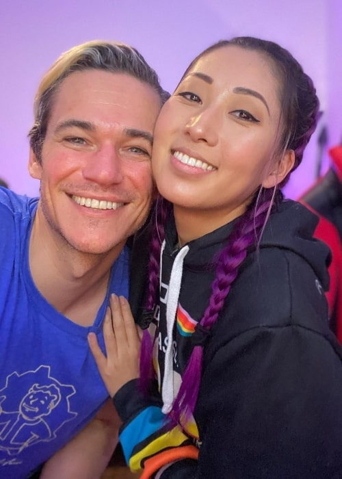 Mari Takahashi as seen in a picture taken with gamer and content creator Peter Kitch in April 2020