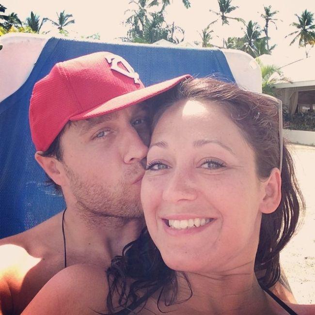 Matt Walst taking a selfie with his girlfriend in February 2015