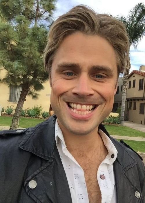 Max Lloyd-Jones as seen while clicking a goofy selfie in January 2018