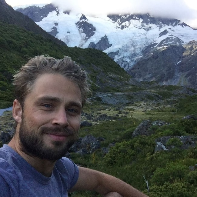 Max Lloyd-Jones as seen while taking a selfie at AorakiMount Cook National Park in January 2018