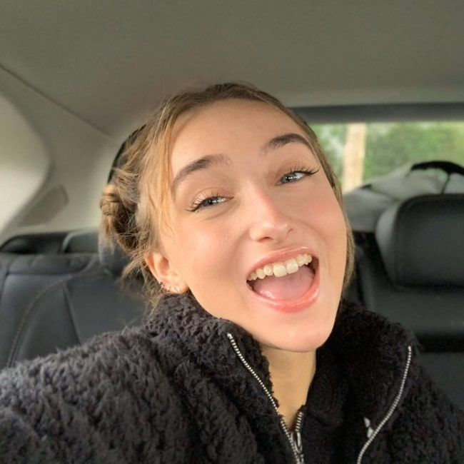 McKenzi Brooke as seen while smiling in a car selfie in January 2020