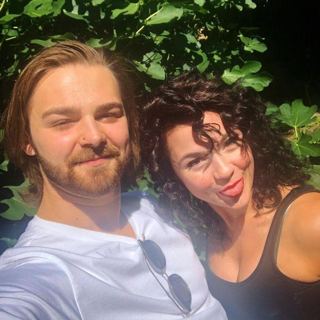 Megan seen with her brother Ben in September 2019