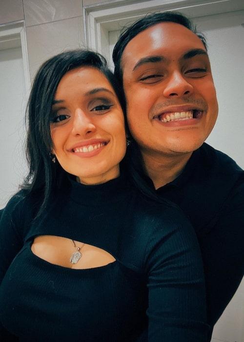 MessYourself as seen in a selfie taken with his girlfriend CrayisTaken in Israel in February 2020