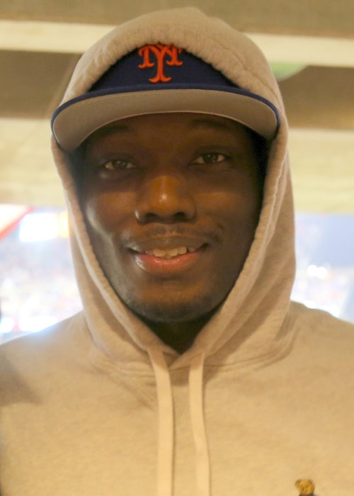 Michael Che at Citi Field in New York, United States in October 2015