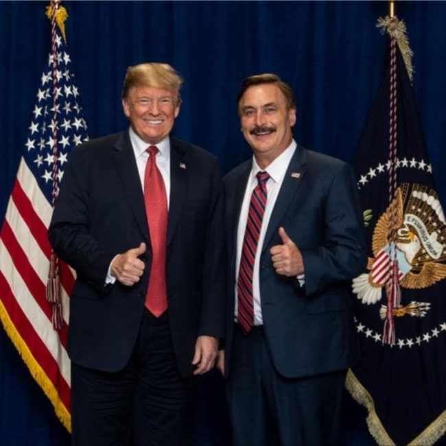 Michael Lindell as seen in picture taken with President Donald Trump in the past