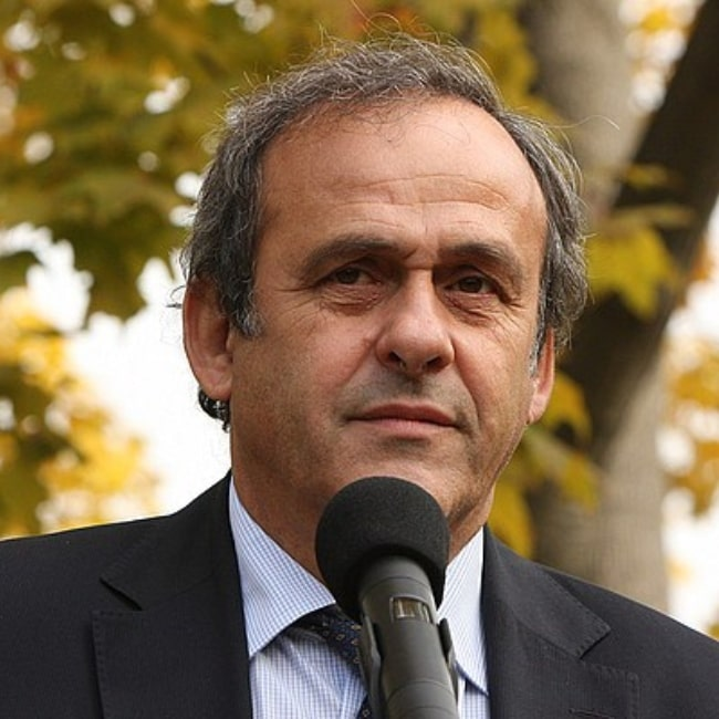 Michel Platini as seen in a picture taken October 14, 2010