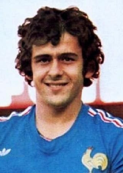 Michel Platini in a picture that was taken in 1978
