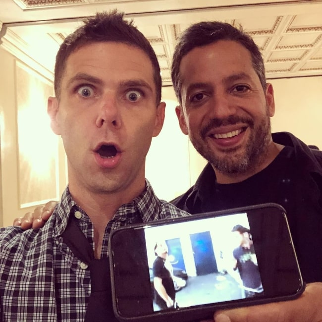 Mikey Day with David Blaine in August 2018