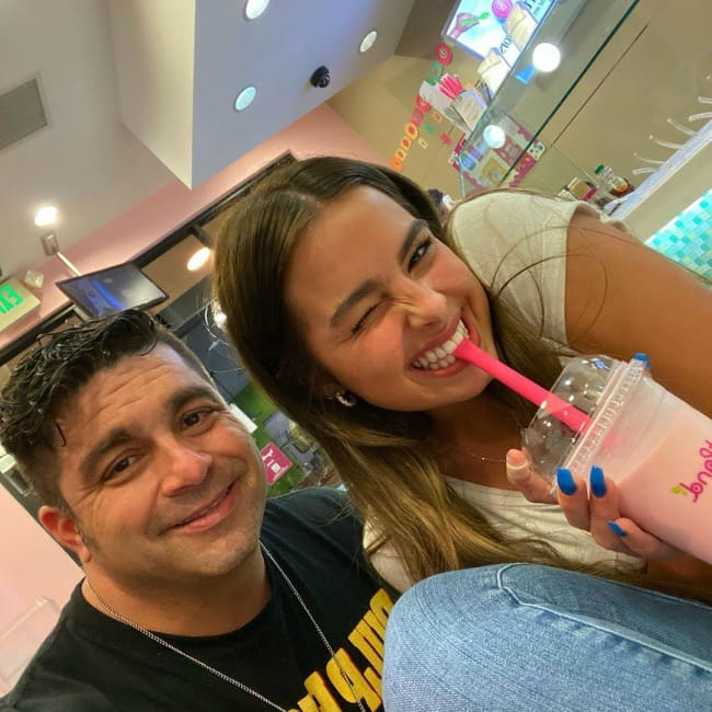Monty Lopez and Addison Rae in a selfie in March 2020