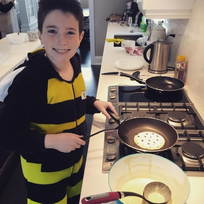 Mr Bee making mouth-watering pancakes in November 2016