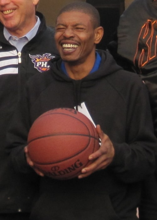 Muggsy Bogues as seen in a picture taken in front of the Sri Shankar Lal Hall on January 9, 2012
