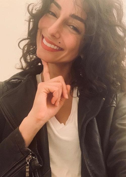 Necar Zadegan as seen in a selfie taken to celebrate Internation Women's Day in March 2020