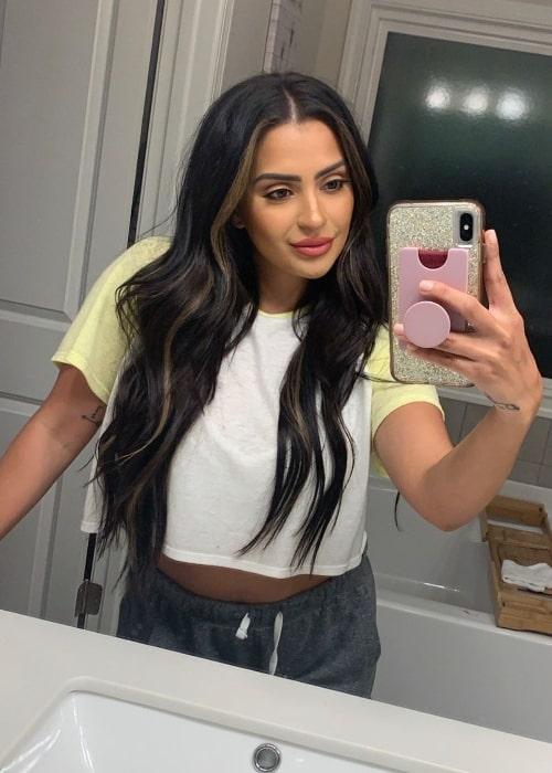 Nilsa Prowant as seen while taking a mirror selfie in Atlanta, Georgia in May 2020