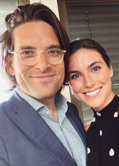 Olivia Wells as seen in a selfie taken with her beau Dr Sandro Demaio in April 2020