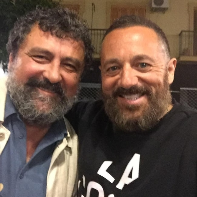 Paco Tous (Left) as seen while smiling for a picture alongside Pepon Nieto in May 2019
