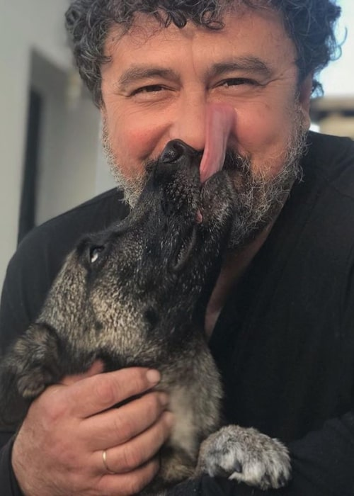 Paco Tous as seen in a picture along with his dog in April 2020