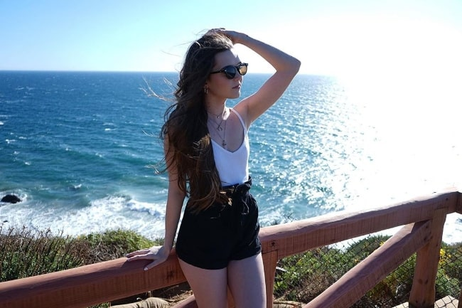 Paris Warner as seen while posing for a picture in Malibu, California