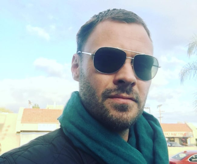 Patrick Flueger as seen while taking a selfie in March 2017