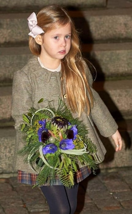 Princess Josephine of Denmark as seen after a Christmas church service in December 2016