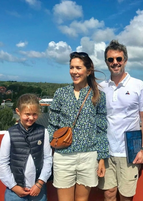 Princess Josephine of Denmark as seen in a picture alongside her family exploring the area around the North Sea bay of Kattegat