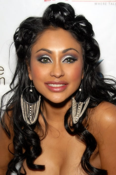 Priya Anjali Rai pictured at Aqua Lounge in Beverly Hills, California on December 26, 2009