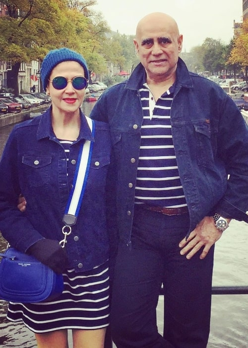 Puneet Issar as seen while posing for a picture with his wife in Amsterdam, Netherlands in October 2019