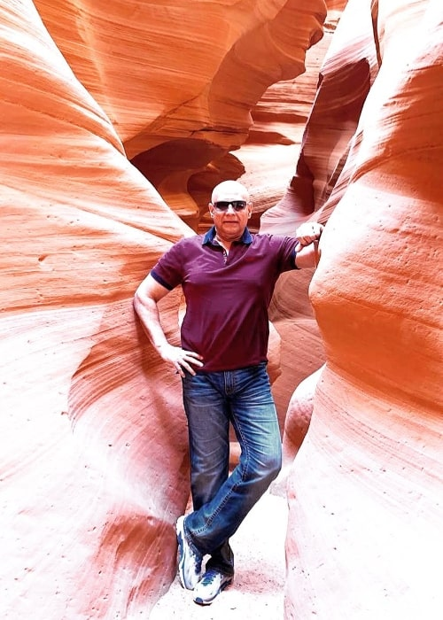 Puneet Issar as seen while posing for the camera at Antelope Canyon in Arizona, United States in October 2019
